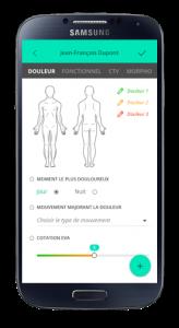 Capture d'écran de l'application Kobus App