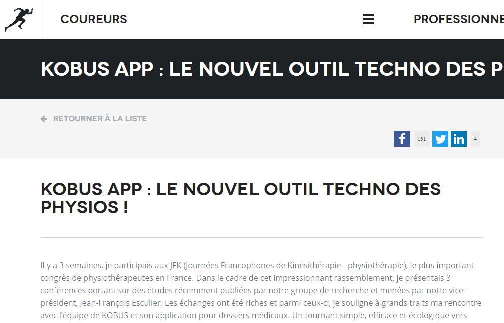 KOBUS App : le nouvel outil techno des physios !